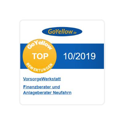 Finanzberater in Landshut & Freising Auszeichnung - Go Yellow